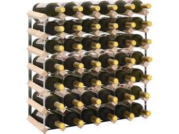 Casier à bouteilles 42 bouteilles Pinède solide - vidaXL