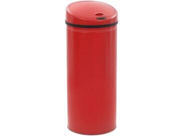 Poubelle à capteur 62 L Rouge - vidaXL