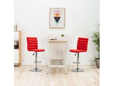 Chaises de bar 2 pcs Rouge Similicuir - vidaXL