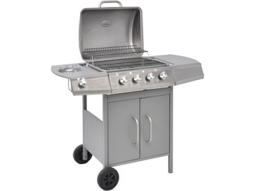 Barbecue à gaz 4 + 1 zone de cuisson Argenté  - vidaXL