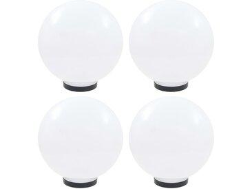 Lampes à LED sous forme de boule 4 pcs Sphérique 30 cm PMMA  - vidaXL