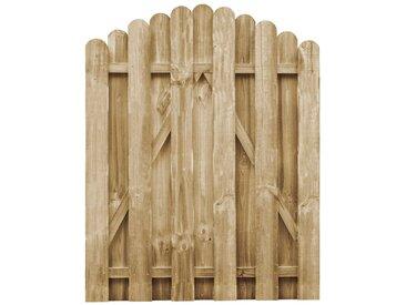 Portail de jardin Bois de pin imprégné 100x125 cm - vidaXL