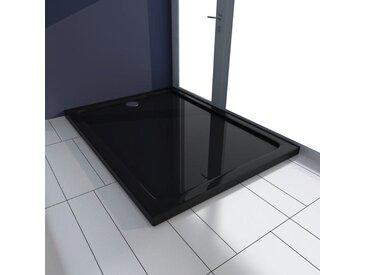 Receveur de douche rectangulaire ABS Noir 80 x 110 cm - vidaXL