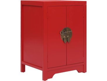 Table de chevet Rouge 38 x 28 x 52 cm Bois de Paulownia - vidaXL