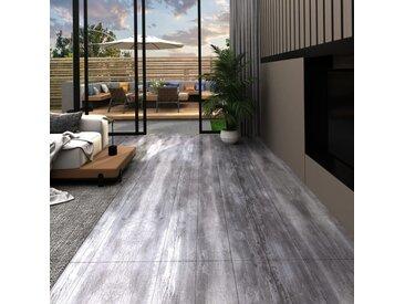 Planches de plancher PVC 5,02 m² 2 mm Autoadhésif Gris bois mat - vidaXL