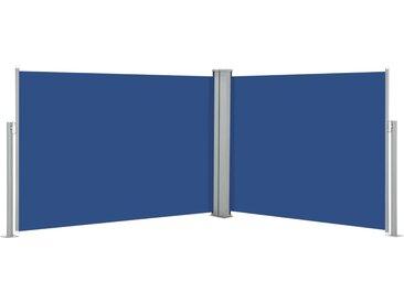 Auvent latéral rétractable Bleu 100 x 1000 cm - vidaXL