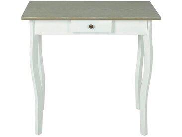 Table console MDF Blanc et marron grisâtre  - vidaXL