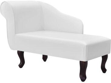Chaise longue Blanc Similicuir - vidaXL