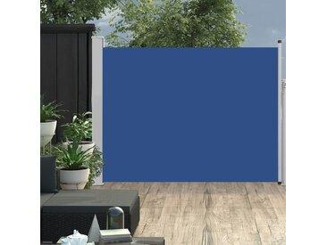 Auvent latéral rétractable de patio 140x500 cm Bleu - vidaXL