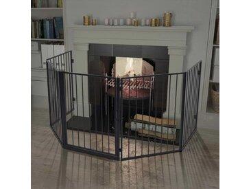 Clôture de cheminée pour animaux de compagnie Acier Noir - vidaXL