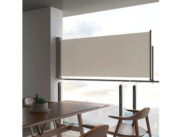 Auvent latéral rétractable de patio 100 x 300 cm Blanc cassé - vidaXL