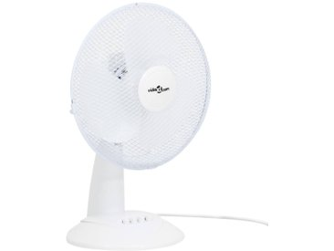 Ventilateur de table 3 vitesses 30 cm 40 W Blanc - vidaXL