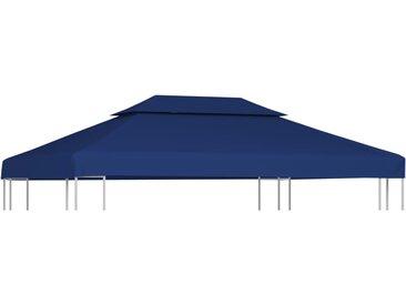 Toile supérieure de belvédère 2 niveaux 310 g/m² 4x3 m Bleu - vidaXL