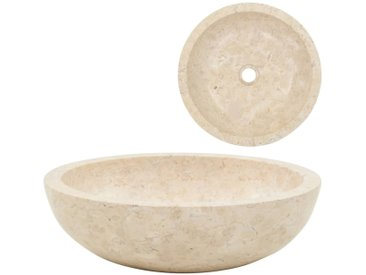 Évier 40 x 12 cm Marbre Crème - vidaXL