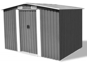 Abri de stockage pour jardin Métal Gris 257 x 205 x 178 cm - vidaXL