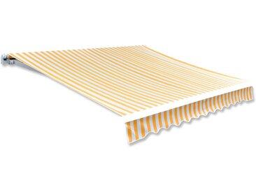 Toile d'auvent Orange et blanc 450x300 cm  - vidaXL