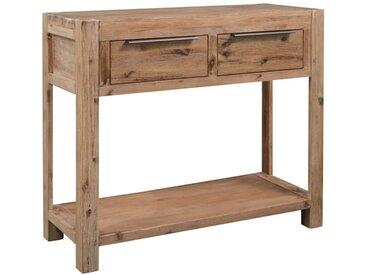 Table console 82x33x73 cm Bois d'acacia massif - vidaXL