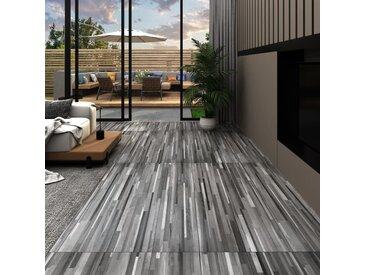 Planches de plancher PVC 4,46 m² 3 mm Autoadhésif Gris rayé - vidaXL