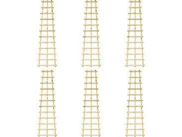 Treillis de jardin 6 pcs 50x170 cm Bois de pin imprégné - vidaXL