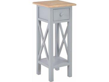 Table d'appoint Gris 27 x 27 x 65,5 cm Bois - vidaXL