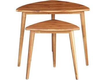 Tables gigognes 2 pcs Bois d'acacia massif                - vidaXL