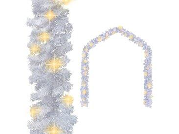Guirlande de Noël avec lumières LED 5 m Blanc - vidaXL