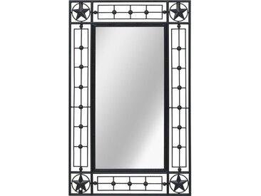Miroir mural Rectangulaire 50 x 80 cm Noir - vidaXL