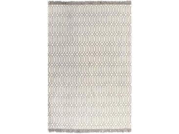 Tapis Kilim Coton 120 x 180 cm avec motif Taupe - vidaXL
