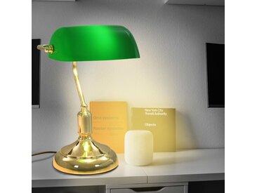 Lampe de bureau 40 W Vert et doré - vidaXL