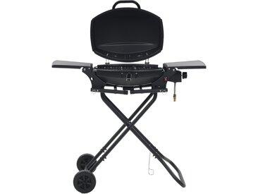 Barbecue au gaz portatif avec zone de cuisson Noir - vidaXL
