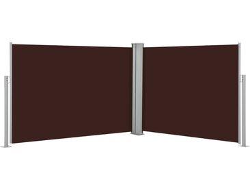Auvent latéral rétractable Marron 120 x 1000 cm - vidaXL