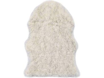 Tapis 60 x 90 cm Peau de mouton synthétique Mélange de gris - vidaXL