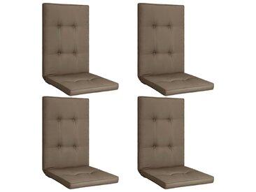 Coussins de chaise de jardin 4 pcs Taupe 120x50x5 cm - vidaXL