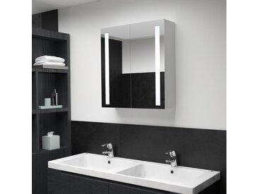 Armoire de salle de bain à miroir LED 62x14x60 cm - vidaXL