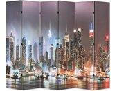 Cloison de séparation pliable 228 x 170 cm New York la nuit - vidaXL