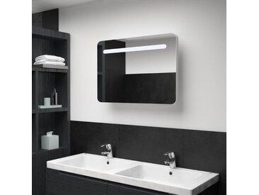 Armoire de salle de bain à miroir LED 80x11x55 cm - vidaXL