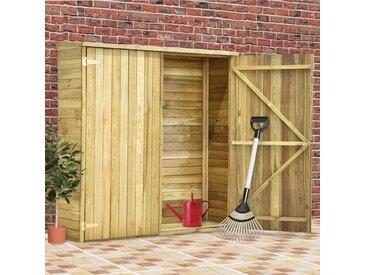 Abri à outils de jardin 163x50x171 cm Pinède imprégnée - vidaXL