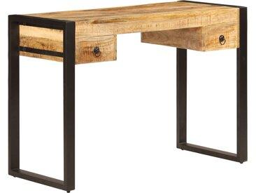 Bureau avec 2 tiroirs 110x50x77 cm Bois solide de manguier - vidaXL