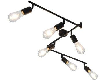 Projecteur à 6 voies avec ampoules à filament 2W Noir 30 cm E27 - vidaXL