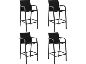 Chaises de bar de jardin 4 pcs Noir Textilène - vidaXL
