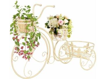Support de plantes sous forme de vélo Style vintage Métal - vidaXL