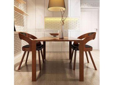 Chaises de salle à manger 2 pcs Marron Similicuir - vidaXL