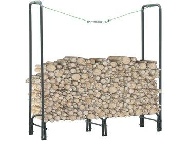 Portant de bois de chauffage Anthracite 120x35x120 cm Acier - vidaXL