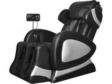 Fauteuil de massage avec écran Noir Similicuir   - vidaXL