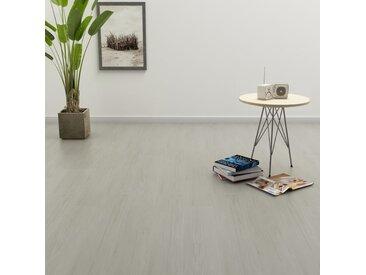 Planches de plancher autoadhésives 4,46 m² 3 mm PVC Gris clair - vidaXL