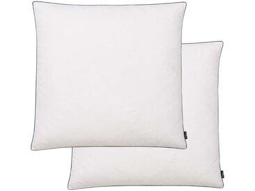 Oreiller 2 pcs Remplissage de duvet léger 80 x 80 cm Blanc - vidaXL