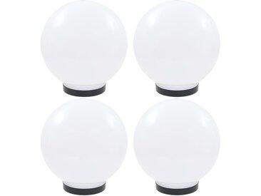 Lampes à LED sous forme de boule 4 pcs Sphérique 25 cm PMMA  - vidaXL