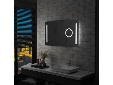 Miroir mural à LED de salle de bain et capteur tactile 100x60cm - vidaXL