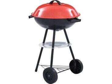 Barbecue portable XXL au charbon avec roues 44 cm - vidaXL