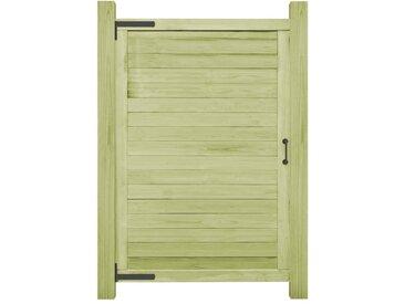 Portail de jardin Bois de pin imprégné FSC 150 x 100 cm - vidaXL